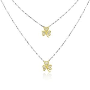 Waterford Jewellery Double Shamrock Pendant
