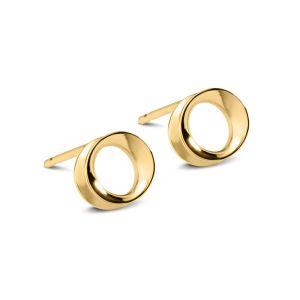 Maureen Lynch Wave Gold Stud Earrings