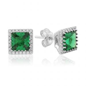 Waterford Jewellery Emerald Center Stud Earrings
