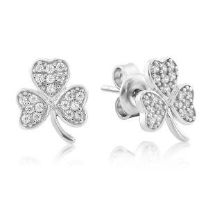 Waterford Jewellery Shamrock Stud Earrings