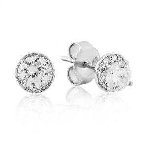 Waterford Jewellery Silver Small Cluster Round Studs