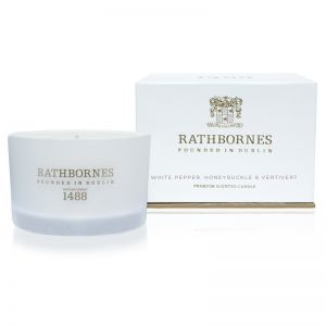 Rathbornes White Pepper, Honeysuckle & Vertivert Travel Candle