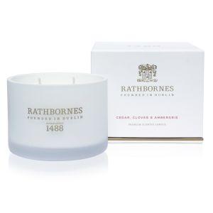 Rathbornes Cedar, Cloves & Ambergris Classic Candle