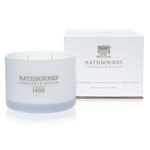Rathbornes White Pepper & Honeysuckle Classic Candle