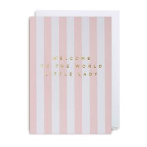 Welcome to the world little lady baby girl card