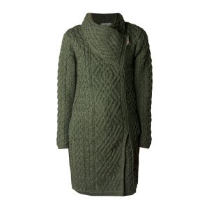 West End Knitwear Liffey Army Green Cardigan