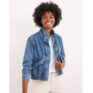 White Stuff Slouchy Denim Utility Jacket