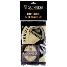 Guinness Bar Towel & Coaster Pack