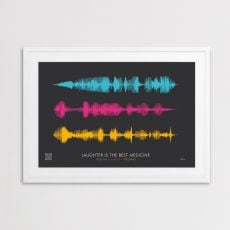 JANDO Medium Personalised Soundwave Framed Print 2
