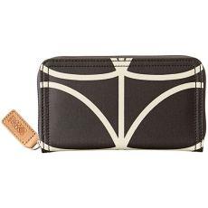 Orla Kiely Big Zip Wallet Black/Cream