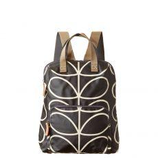 Orla Kiely Giant Linear Stem Backpack Black/Cream