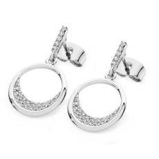 Tipperary Crystal Floating Moon Earrings