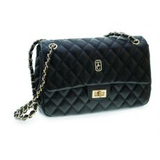 Tipperary Crystal Black Quilted Bag