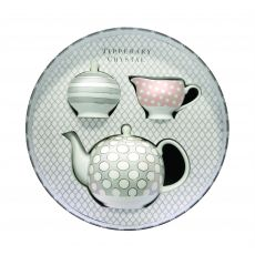 Tipperary Crystal Teapot, Sugar & Creamer Set