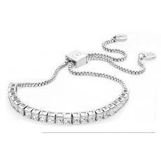 Tipperary Crystal Square Silver Tennis Bracelet