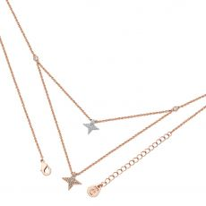 Tipperary Crystal Double Star Floating Necklace