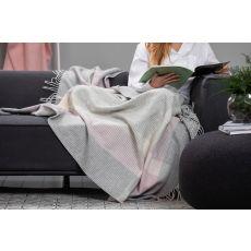 Foxford Cashmere Pink/Grey Throw