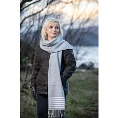 Foxford Uniform White Stripe Scarf