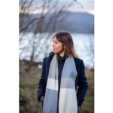 Foxford White/Uniform/Jeans Mix Stripe Scarf