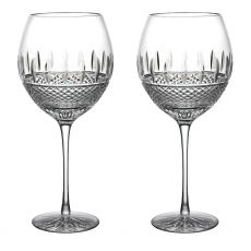 Waterford Crystal Irish Lace Red Wine Set of Two Glasses
