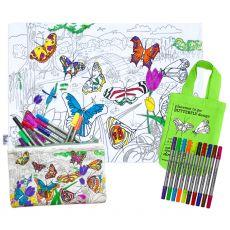 Eat Sleep Doodle Placemat to go Butterflies