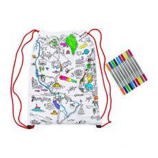 Eat Sleep Doodle World Map Backpack