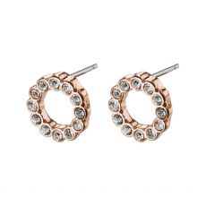 Pilgrim Malin Rose Gold Crystal Earrings