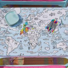 Eat Sleep Doodle Tablecloth World Map