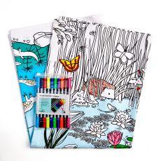 Eat Sleep Doodle Tablecloth Pond Life