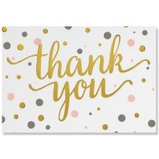 Peter Pauper Press Thank You Gold Note Cards