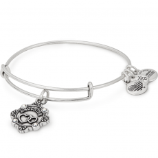 Alex and Ani Because I Love You Daughter III Silver Bangle