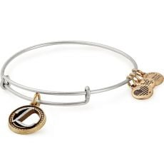 Alex and Ani Initial L Two Tone Bangle