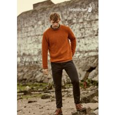 Aran Teracotta Roundstone Sweater-Extra Large