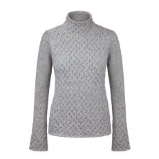 Aran Trellis Light Grey Sweater