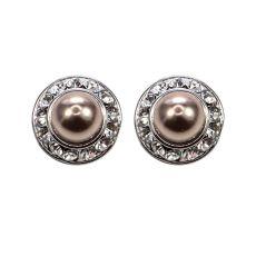 Absolute Bronze Pearl Stud Earrings