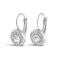 Absolute Circle Drop Silver Earrings