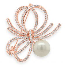 Absolute Crystal and Pearl Brooch