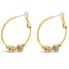 Absolute Gold Disco Charm Hoop Earrings