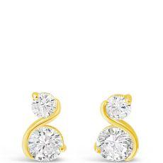 Absolute Gold S Shape Earrings