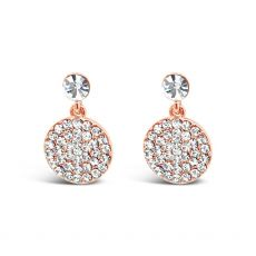 Absolute Pave Drop Rose Gold Earrings