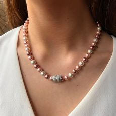 Absolute Pink Pearls Short Necklace