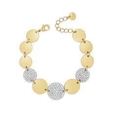 Absolute Polished & Pave Gold Bracelet