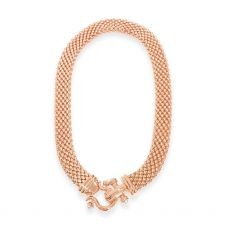 Absolute Rose Gold Mesh Style Necklace