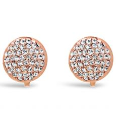Absolute Rose Gold Pave Clip On Earrings