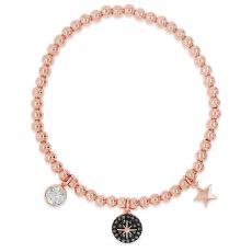 Absolute Rose Gold Plated North Star Charm Bracelet