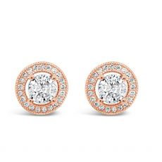 Absolute Rose Gold Plated Pierced Stud Earring