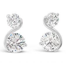 Absolute Silver S Shape Earrings