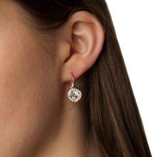 Absolute Swarovski Circle Drop Rose Gold Earrings