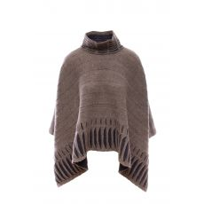 McConnell Woollen Mills Taupe Poncho Sweater