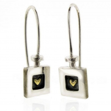 Alan Ardiff Heart Of Gold Drop Earrings